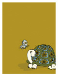 Retro Turtle Wall Decal