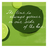 Lime is Greener Wallstickers