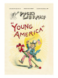 Puck's Library: Young America Wall Decal by Frederick Burr Opper