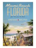 Miami Beach Autocollant par Kerne Erickson
