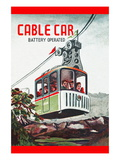 Cable Car Wall Decal