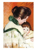 Woman and Child Wall Decal by Mary Cassatt