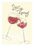 Sip, Sip, Hooray Wall Decal
