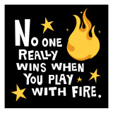 Play with Fire Wall Decal