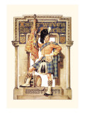Scotsman with Drum and Flag Wall Decal