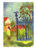 Garden Gate Muursticker van Auguste Macke