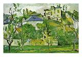Fruit Garden In Pontoise Wall Decal by Paul Cézanne