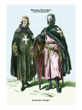 German Costumes: Hospitaller Knights Wall Decal