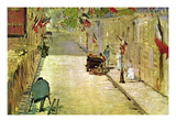 Rue Mosnier with Flags Wall Decal by douard Manet