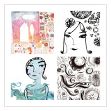 Fashionista Four Patch Wallstickers