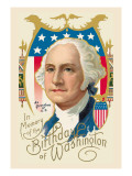 In Memory of the Birthday of Washington Wall Decal