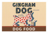 Gingham Dog Wall Decal