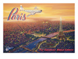 Over Paris Wall Decal by Kerne Erickson