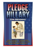 Pledge Hillary for President Wall Decal