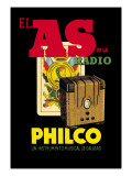 El as de la Radio, Philco Wall Decal
