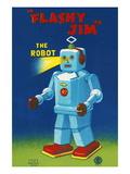 Flashy Jim - The Robot Wall Decal