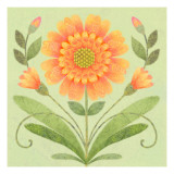 Floral Square I Wallstickers