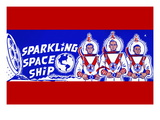 Sparkling Space Ship Wall Decal