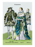 Anton Bourbon, King of Navarre, Carl IX, and Francis II, 16th Century Wall Decal by Richard Brown