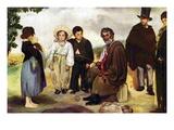 The Old Musician Autocollant mural par Édouard Manet