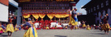 Folk Dancers Dancing at a Festival, Thimphu Tshechu, Thimphu, Bhutan Wall Decal by  Panoramic Images