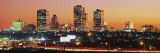 Buildings Lit Up at Dusk, Fort Worth, Texas, USA Wall Decal by Panoramic Images 