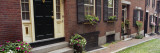 Potted Plants Outside a House, Acorn Street, Beacon Hill, Boston, Massachusetts, USA Wall Decal by  Panoramic Images