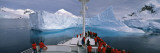 Tourists Standing on a Cruise Ship Watching at Iceberg, Antarctic Peninsula, Antarctica Wall Decal by  Panoramic Images
