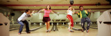 Youths in Bowling Alley, USA Vinilos decorativos por Panoramic Images