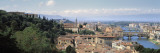 High Angle View of a City, Florence, Tuscany, Italy Wall Decal by  Panoramic Images