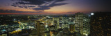 Buildings Lit Up at Dusk, Sydney, Australia Wall Decal by  Panoramic Images