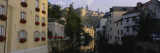 Buildings along a River, Alzette River, Grund District, Luxembourg City, Luxembourg Wall Decal by  Panoramic Images