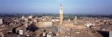 Piazza del Campo and Torre del Mangia from Duomo, Tuscany, Italy Wallstickers af Panoramic Images,