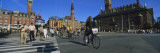Group of People Crossing a Road at a Zebra Crossing, City Hall Square, Copenhagen, Denmark Wall Decal by  Panoramic Images