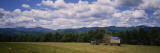 Tractor on a Field, Waterbury, Vermont, USA Wall Decal by  Panoramic Images