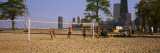 Group of People Playing Beach Volleyball, Chicago, Illinois, USA Wall Decal by Panoramic Images