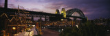 Bridge Lit Up at Night, Sydney Harbor Bridge, Sydney, New South Wales, Australia Wall Decal by  Panoramic Images