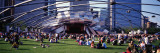 People at a Lawn, Pritzker Pavilion, Millennium Park, Chicago, Illinois, USA Wall Decal by  Panoramic Images