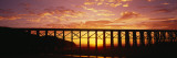 Silhouette of a Railway Bridge, Pudding Creek Bridge, Fort Bragg, California, USA Wall Decal by  Panoramic Images