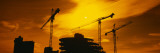 Silhouette of Cranes at a Construction Site, London, England Wall Decal by  Panoramic Images