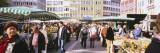 Group of People at a Farmer's Market, Stuttgart, Baden-Wurttemberg, Germany Wall Decal by  Panoramic Images