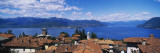 Buildings near a Lake, Lake Maggiore, Vedasco, Italy Wall Decal by  Panoramic Images