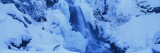 Waterfall in a Snow Covered Landscape, Derek Falls, Manning Park, British Columbia, Canada Wall Decal by  Panoramic Images