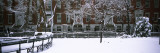 Snowcapped Benches in a Park, Washington Square Park, Manhattan, New York, USA Wall Decal by  Panoramic Images