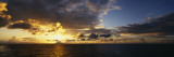 Clouds over the Pacific Ocean at Sunset Wall Decal by  Panoramic Images