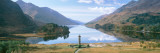 Scotland, Highlands, Loch Shiel Glenfinnan Monument, Reflection of Cloud in the Lake Wall Decal by  Panoramic Images