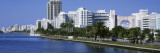 Waterfront and Skyline, Miami Beach, Miami, Florida, USA Wall Decal by  Panoramic Images