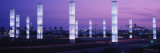 Light Sculptures Lit Up at Night, Lax Airport, Los Angeles, California, USA Wall Decal by Panoramic Images 