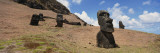 Moai Statues, Tahai Archaeological Site, Rano Raraku, Easter Island, Chile Wall Decal by  Panoramic Images