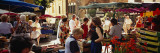 Group of People in a Street Market, Ceret, France Wall Decal by  Panoramic Images